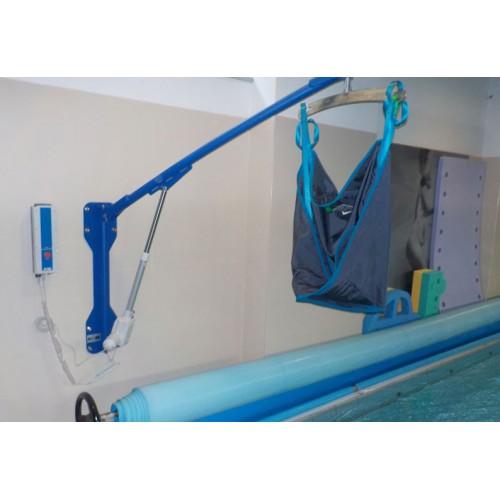 Grúa eléctrica para piscina